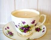Handmade Vintage Tea Cup Candle