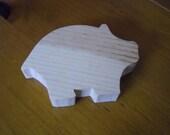 Unfinished WOOD shapes-PIG