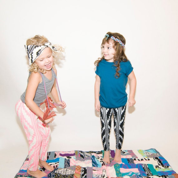 Hand Printed Organic Baby/Kids Leggings (Choose Your Color)