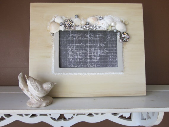 Creamy Shells and Jewels Frame