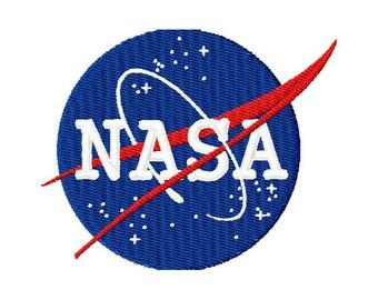 4x4  hoop size  NASA logo  Inspired  machine embroidery design