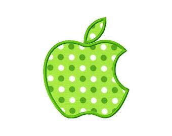 4x4  hoop size  Apple applique  Apple  Logo  Inspired  digital embroidery design