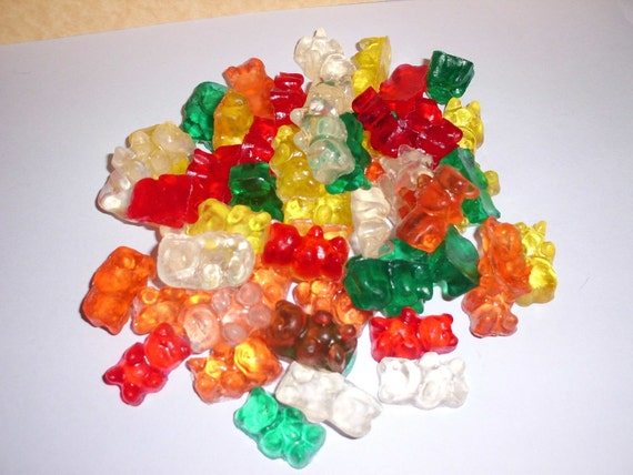 60 Sweet Fruity Glycerin Gummy Bear Soaps 6 Ounces