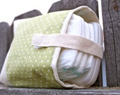 Olive Green Polka-Dot On-The-Go Diaper Pouch