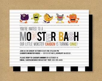 Boy Birthday Invitation // MONSTER BASH