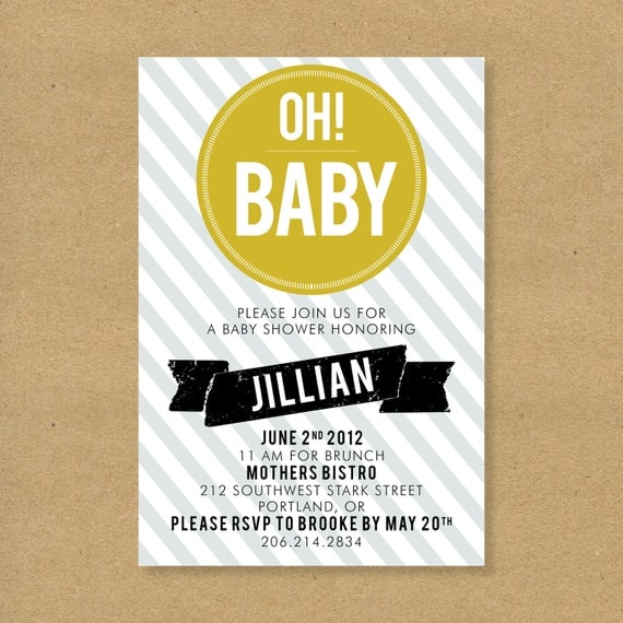 Items similar to Baby Shower Invitation Oh Baby Gender