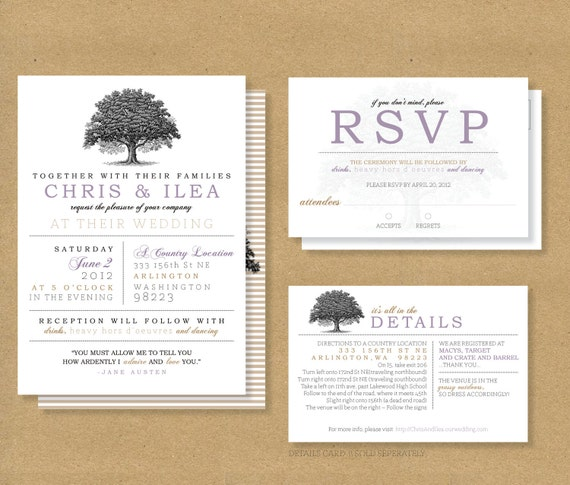 similar to tree roots wedding invitation and rsvp card on etsy