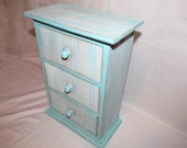 Reserved For KristaShabby Chic Apothecary Three Draw Chest