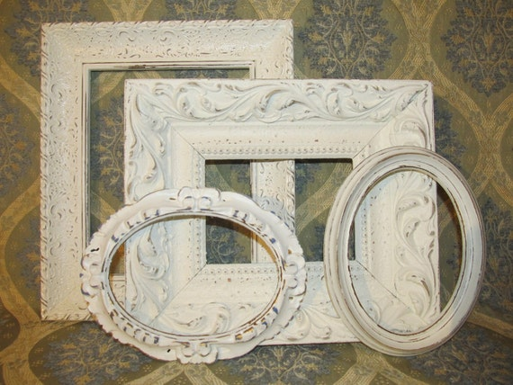Four Ornate Shabby Chic Frames
