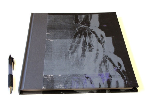 10 x 12 inch X Ray Sketchbook with Screenprinted Cover and Multicolor Pages