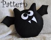 Bat Pattern PDF -Jugular the Bat  Plush Pillow PDF Tutorial How to DIY epattern Halloween