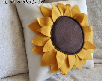 Sunflower Pillow Pattern DIY Tutorial flower pattern how to