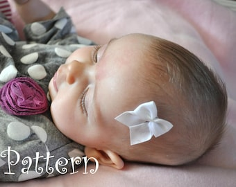 Satin Newborn Stick-On Baby Bow DIY PDFTutorial How To Make