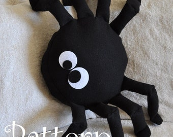 Spider Pattern PDF - Bitsy the Spider Plush Pillow PDF Tutorial How to DIY epattern Halloween
