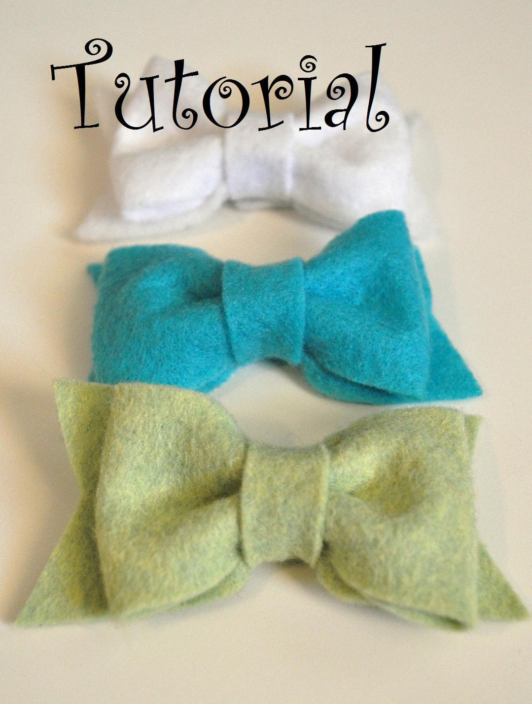 Felt bow pdf tutorial with printable templates 6 bows in 1 for Felt bow tie template