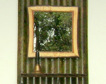 Wall Mirror with Koa Shelf and Frame