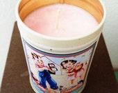 Light Pink Vintage Tin Candle