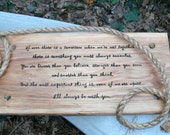 Winnie the pooh A.A. Milne quote on christopher robin tree rope swing baby shower gift