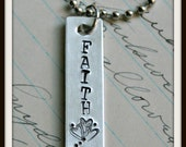 Sweet FAITH hand stamped necklace by Son and Sea FREE US shipping
