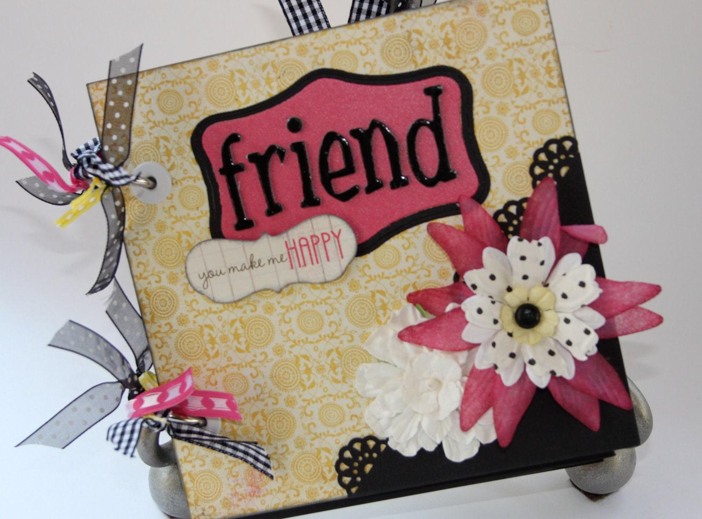 friend scrapbook mini album wonderful gift. Black Bedroom Furniture Sets. Home Design Ideas