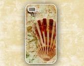 Beach theme summer Iphone 4 case beach iPhone 4s case, altered art shells sand, Iphone 5 case, altered art iPhone 5c case, iPhone 5s (9751)