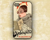 Vintage Dutch advertisement ad Iphone 4 case - Art deco Amsterdam ad on Iphone 4s cover (9646)