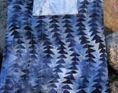 Blue batik iPad sleeve