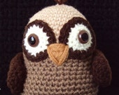 Adorable Baby Owl - Amigurumi--Cyber Monday Sale--Free Shipping