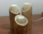 Small Wood candle holders