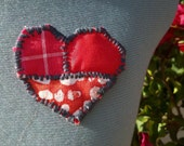Heart On Your Sleeve: Patchwork Heart Brooch