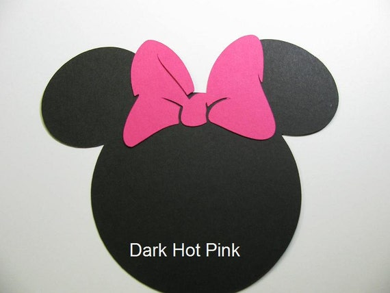 "RESERVED LISTING: 50 pack -5"" Minnie Mouse ears with a PINK bow"
