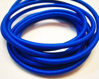 A59 - 1 Yard of 2mm Blue Sapphire Round Stretch Elastic Drawcord Rope Cord