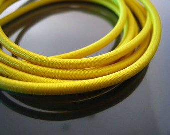 A31 - 1 Yard of 3mm Yellow Round Stretch Elastic Drawcord Rope Cord