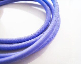 A69 - 1 Yard of 3mm Light Purple Violet Round Stretch Elastic Drawcord Rope Cord