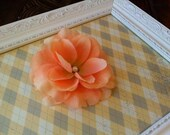Peach Coral Spring Bridal Hair Flower with Antiqued Pearl Embellishment - Wedding Photo Prop Toddlers Girls Women
