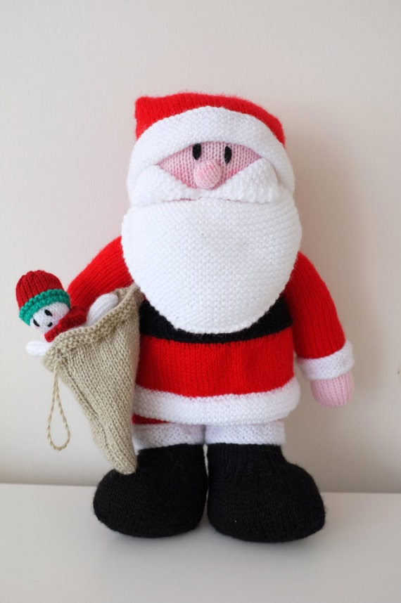Hand Knitted Santa Claus Doll