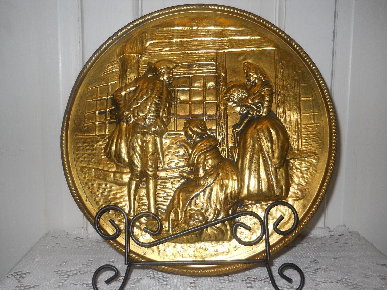 Vintage Brass Plate 78