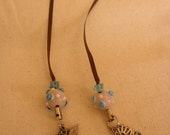 Brown and Pink Butterfly Bookmark
