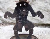 HALLOWEEN 1950's Metal Goblin Candle holder
