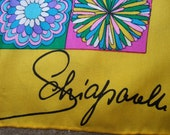 SCHIAPARELLI Vintage Silk Print Scarf