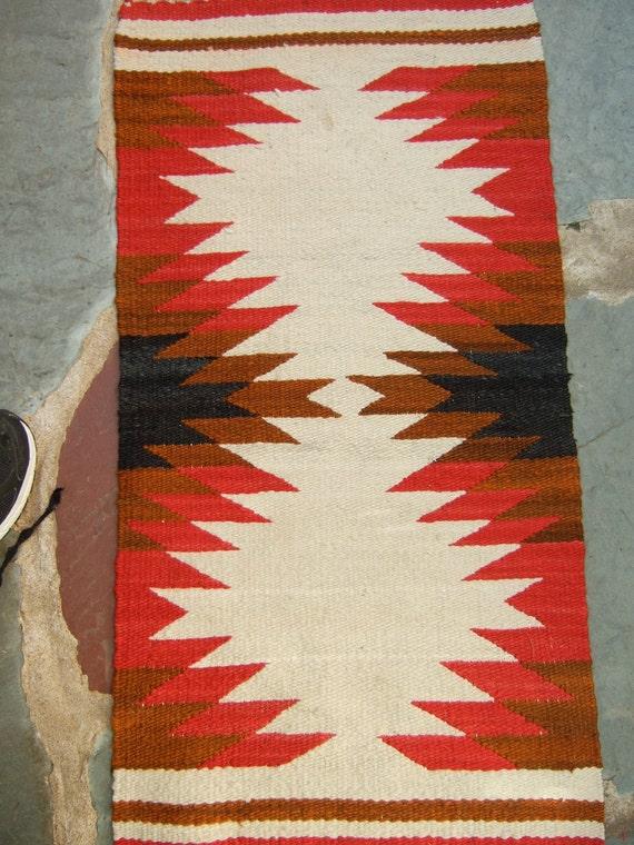 American Indian Small Navajo Rug c 1970