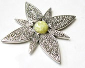 MAGNET for Fridge or Cabinet Upcycled Pin Silver Starburst