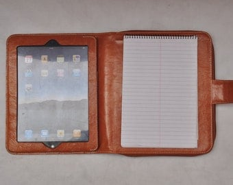 Item No.:8009 Top-level genuine leather portfolio & iPad case for your iPad 1,iPad 2/3/4/ or ipad 5 in Waxed brown