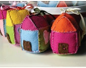 SOFT ORNAMENT - Scale Model House - Felt sculpture - Cute ornament for home decorations