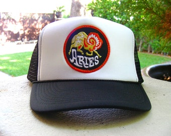 Vintage 70s ARIES Zodiac Astrology Patch stitched on New Snap-back Trucker Cap / Hat