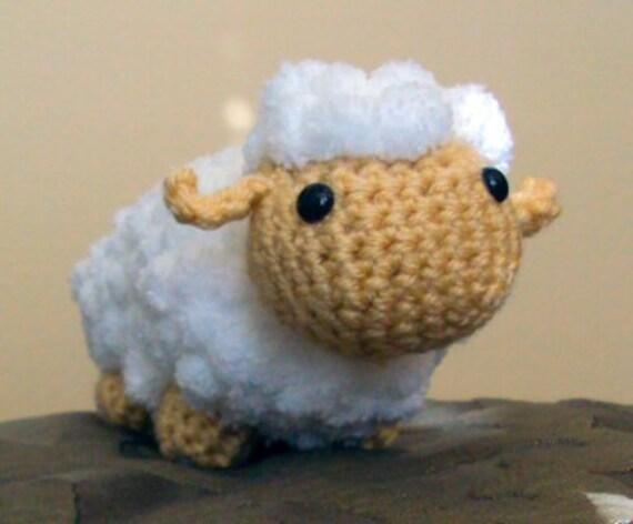 Etsy Amigurumi Sheep : Crochet Amigurumi Fluffy Lamb White Lamb by craftykittycrochet
