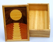 Catching Moonbeams In A Box 2: Satinwood, Walnut, Lacewood, White Oak Wooden Box