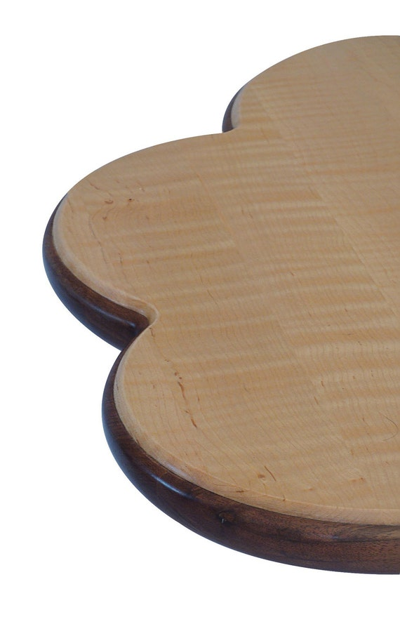 Add Bloom To Your Room:  Curly Maple And Black Walnut Pedestal Table