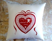 Valentine Pillow, Valentine Decoration, Cupid, HeartDecor, Home Decor, Decorative Pillows