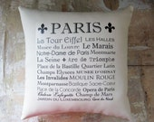Paris Pillow, French Country Home, French Decor, Fleur de Lis, Paris Decor, Home Decor, Decorative Pillow, Housewares - parismarketplace